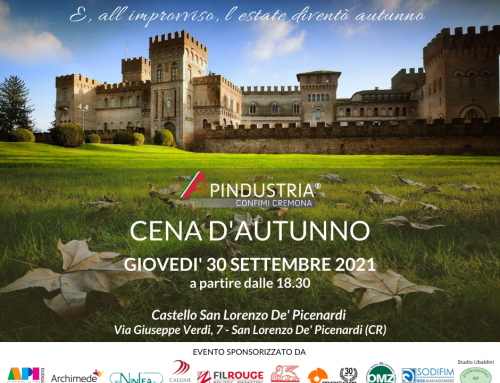 Cena Apindustria Confimi Cremona –  30 Settembre 2021